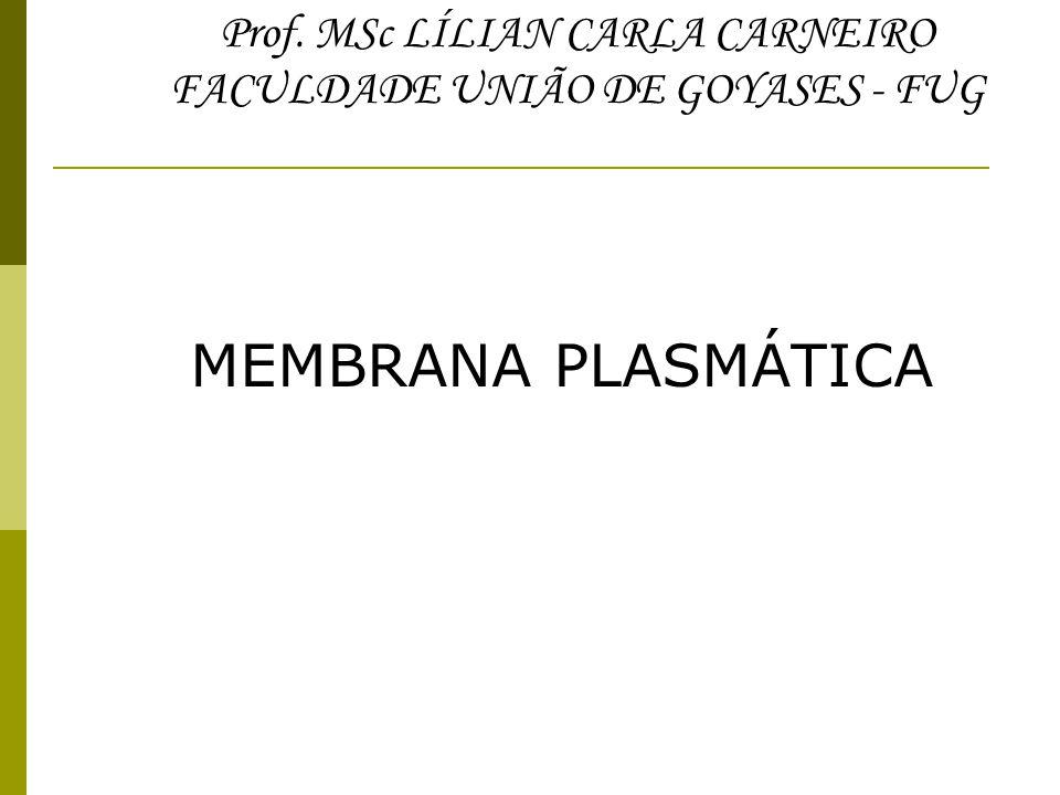 MEMBRANA PLASMÁTICA Prof. MSc LÍLIAN CARLA CARNEIRO