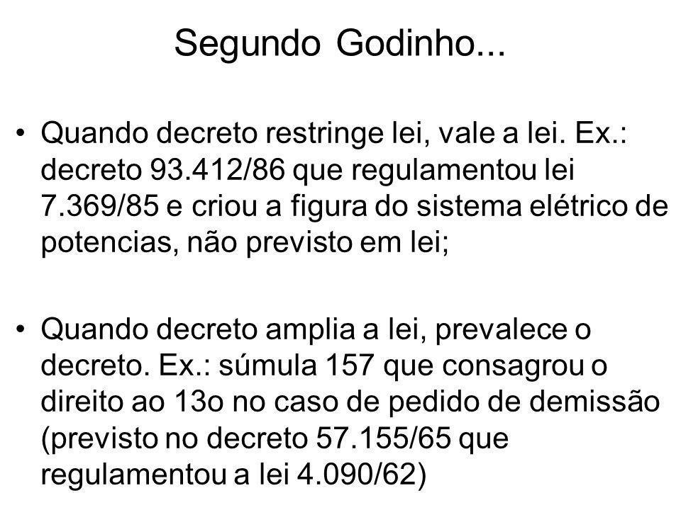 Segundo Godinho...
