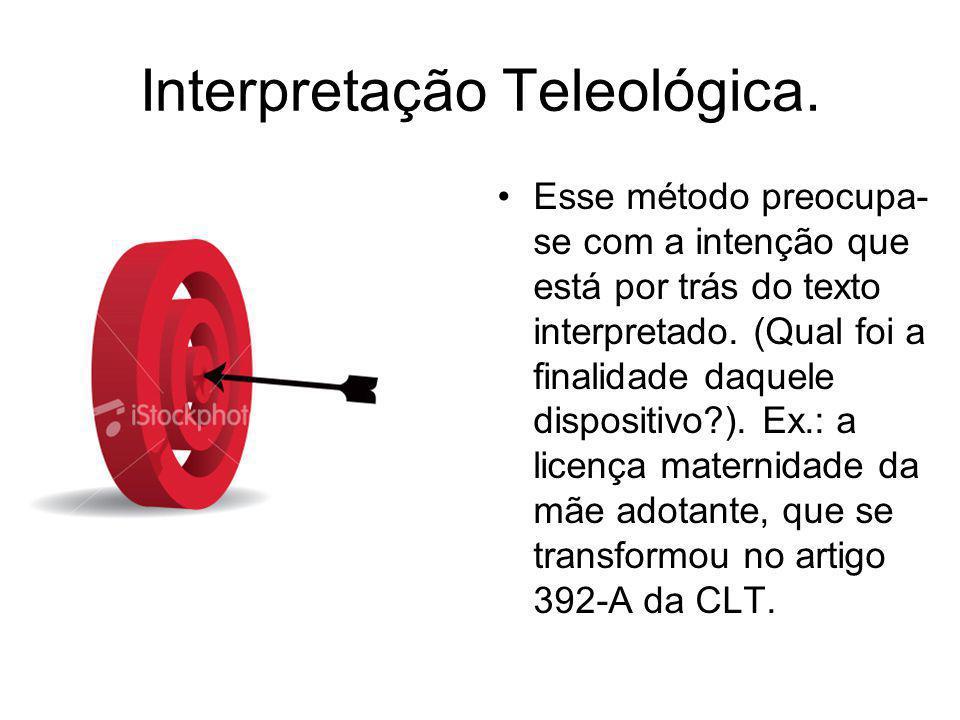 Interpretação Teleológica.