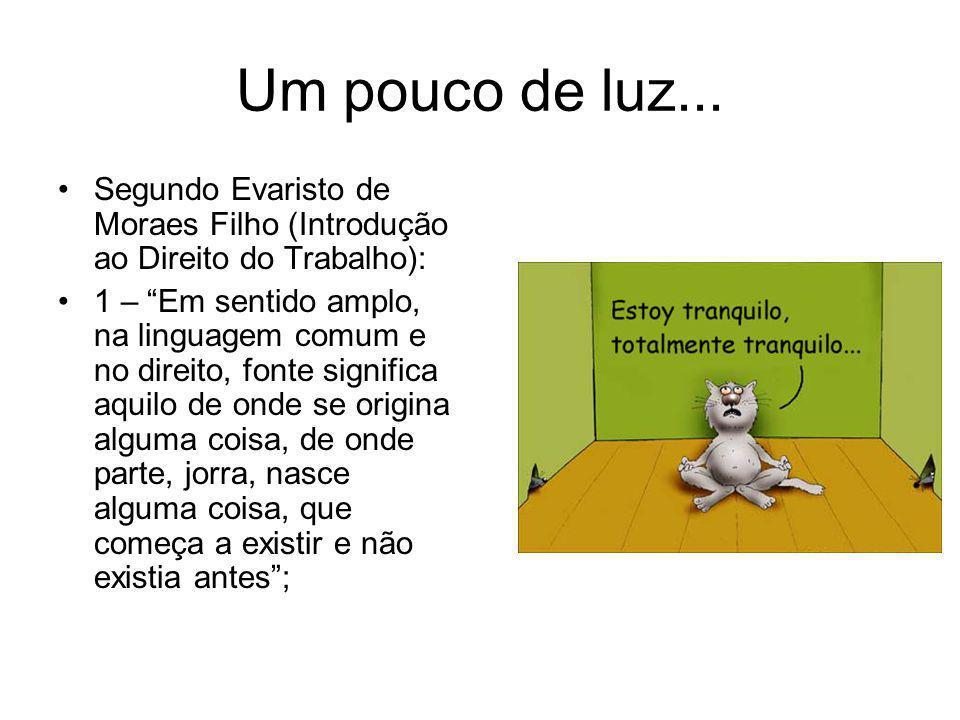 Um pouco de luz... Segundo Evaristo de Moraes Filho (Introdução ao Direito do Trabalho):
