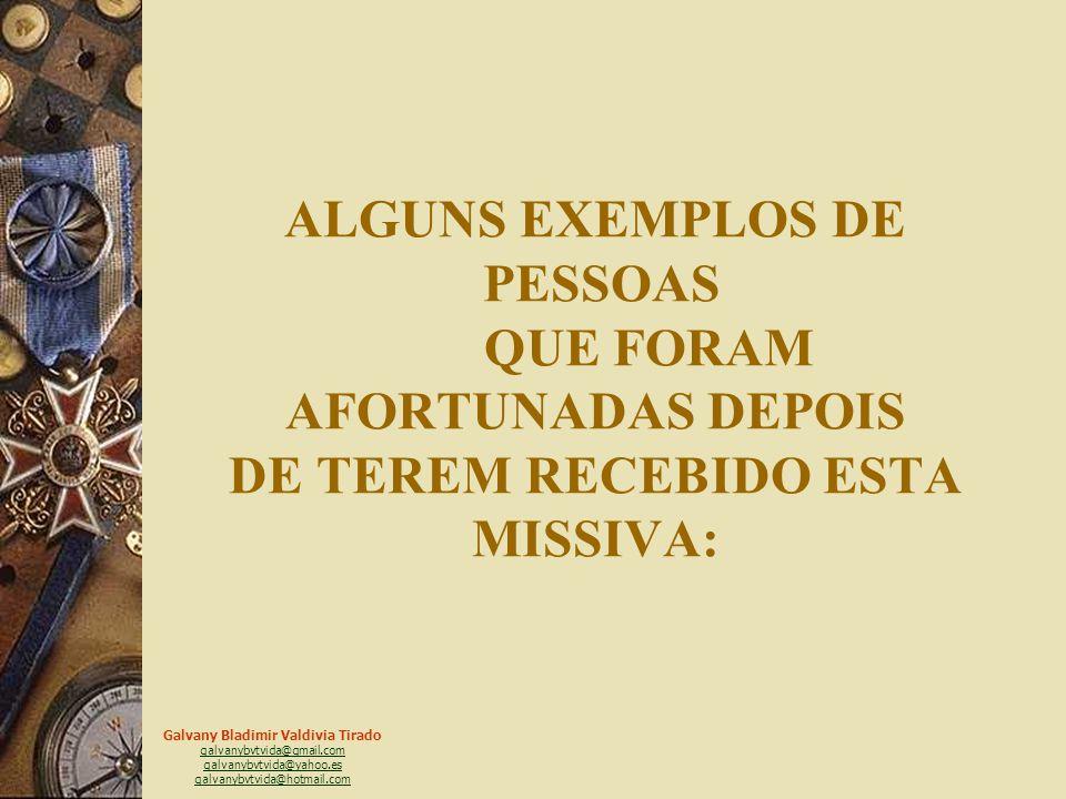ALGUNS EXEMPLOS DE PESSOAS