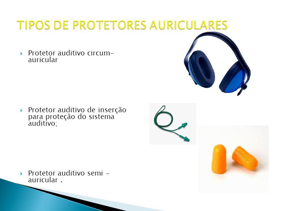 TIPOS DE PROTETORES AURICULARES