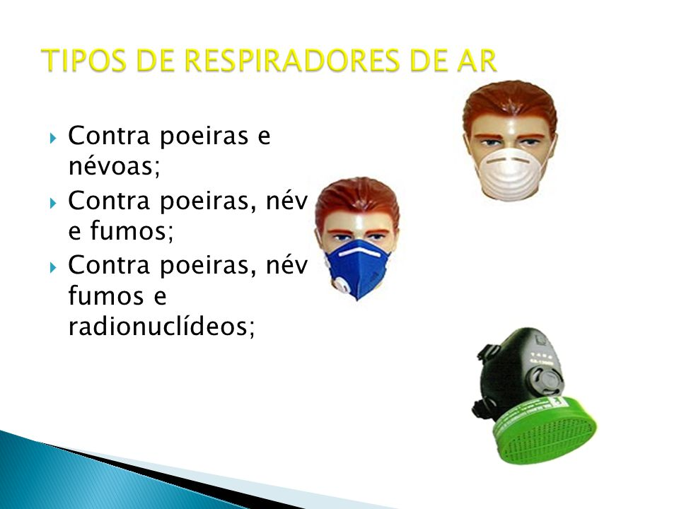 TIPOS DE RESPIRADORES DE AR