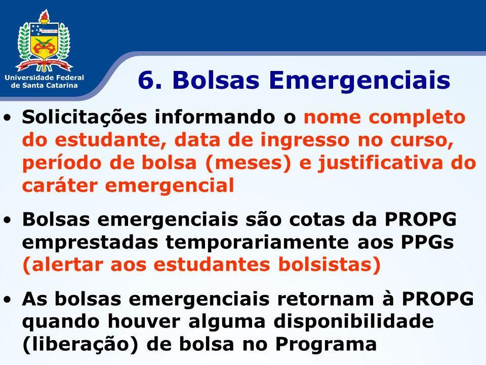 6. Bolsas Emergenciais