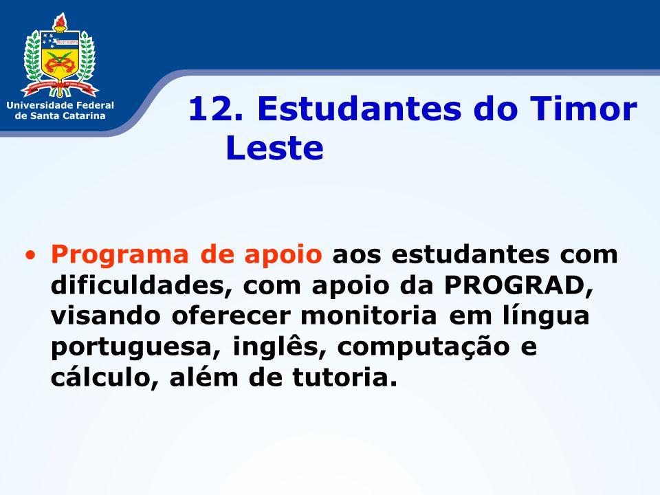 12. Estudantes do Timor Leste