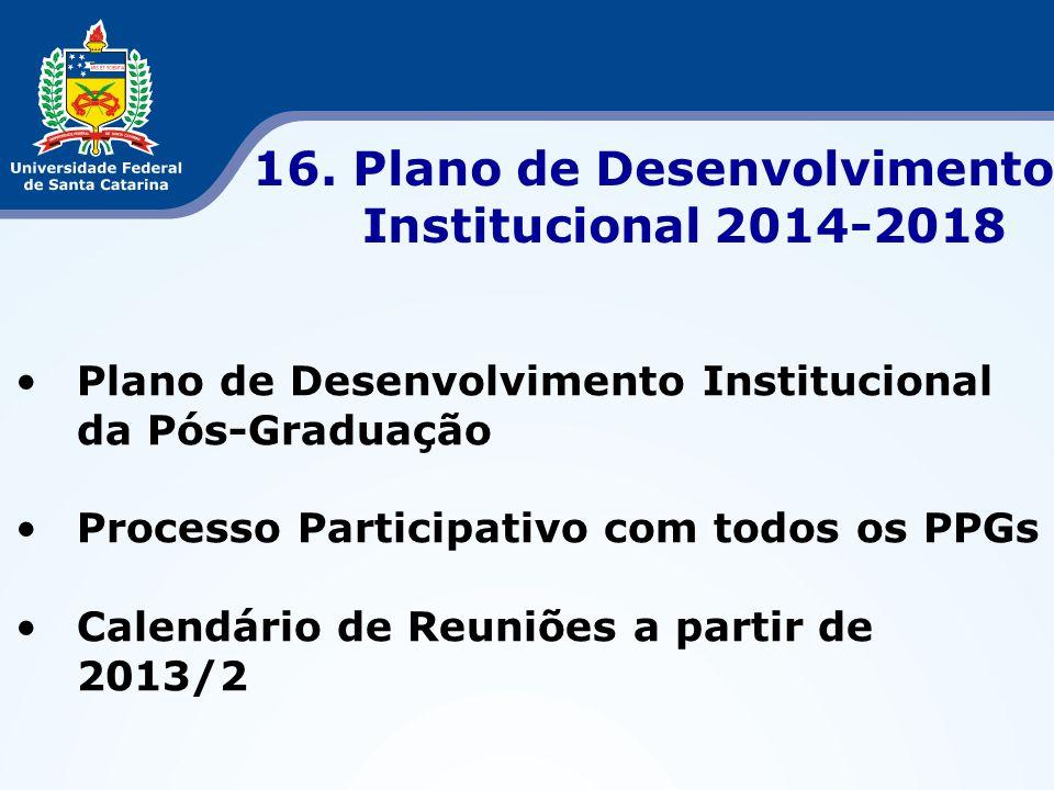 16. Plano de Desenvolvimento Institucional 2014-2018