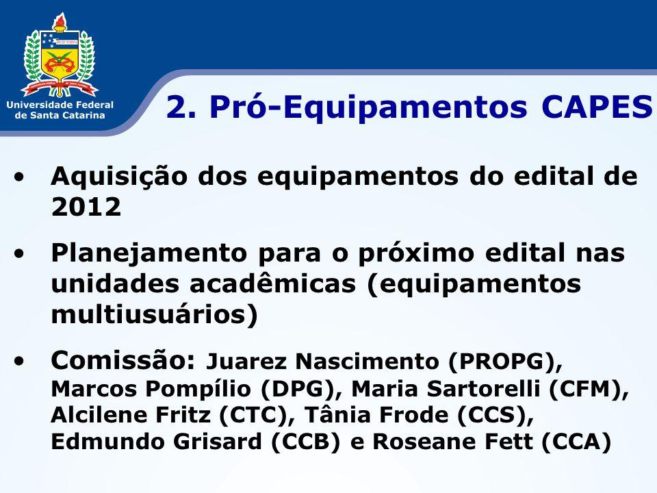 2. Pró-Equipamentos CAPES