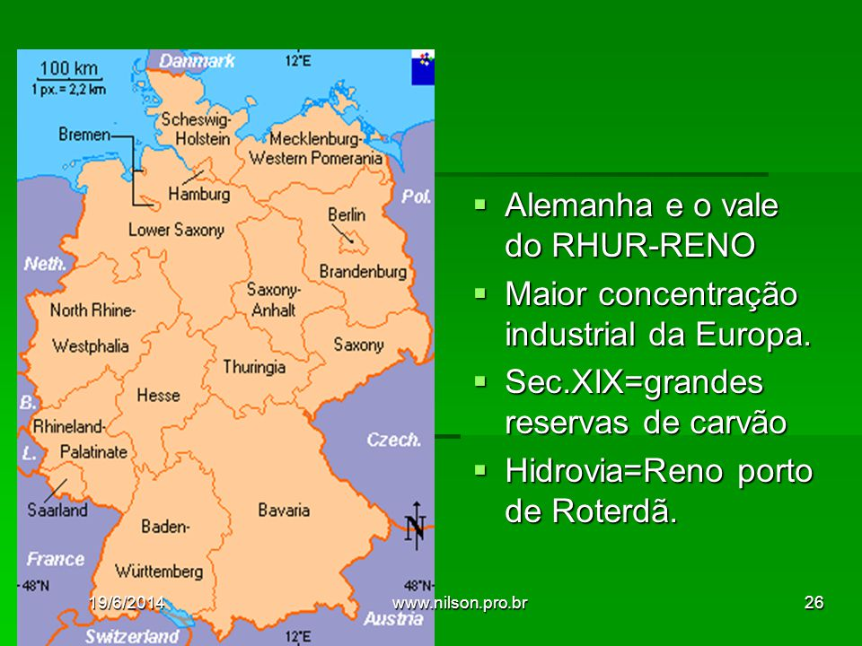 Alemanha e o vale do RHUR-RENO