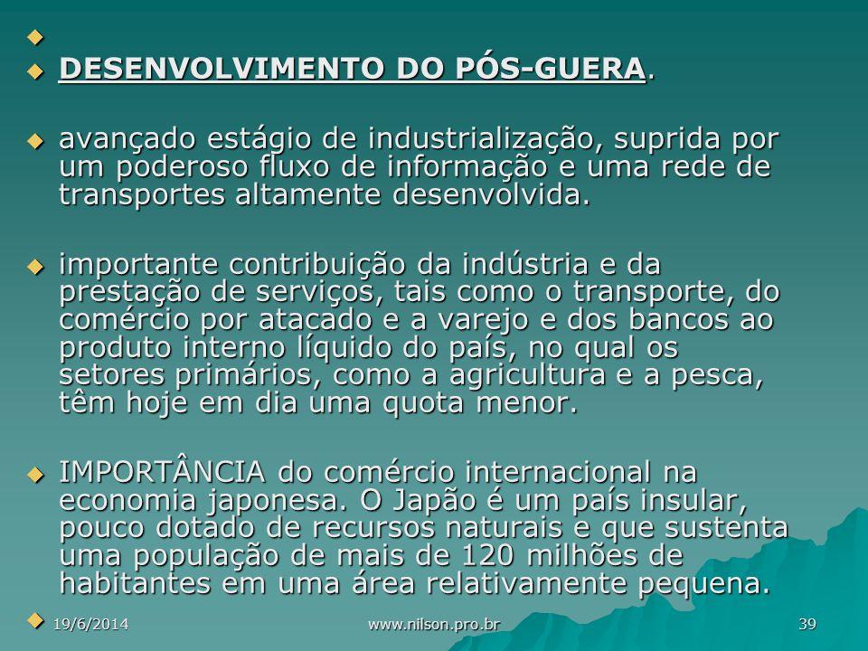 DESENVOLVIMENTO DO PÓS-GUERA.