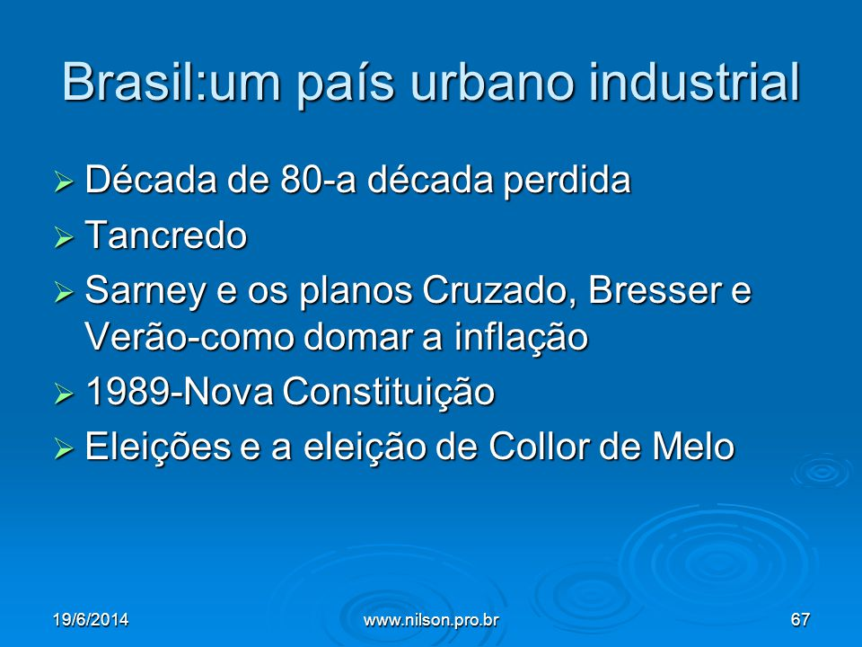 Brasil:um país urbano industrial