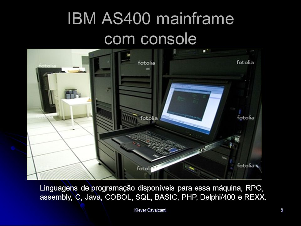 IBM AS400 mainframe com console
