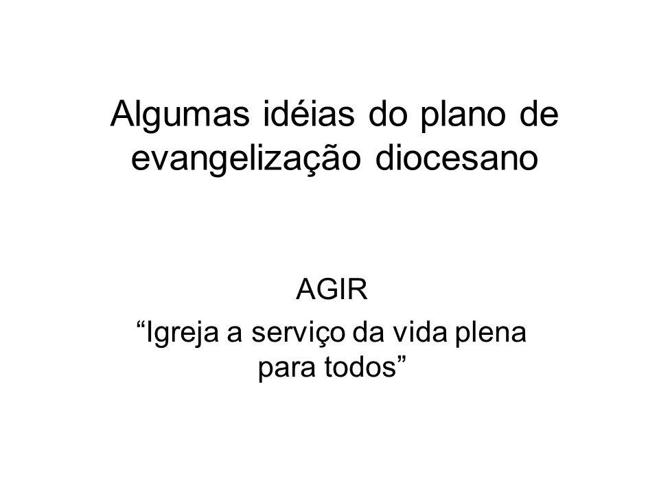 Algumas idéias do plano de evangelização diocesano