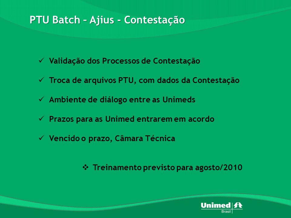 PTU Batch – Ajius - Contestação