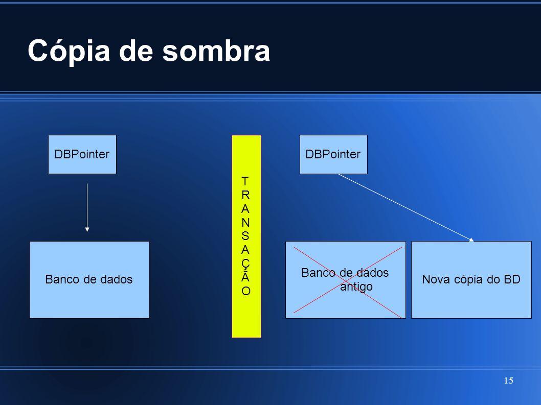 Cópia de sombra DBPointer T R A N S Ç Ã O DBPointer Banco de dados