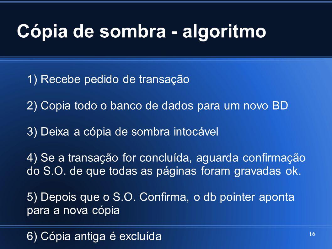 Cópia de sombra - algoritmo