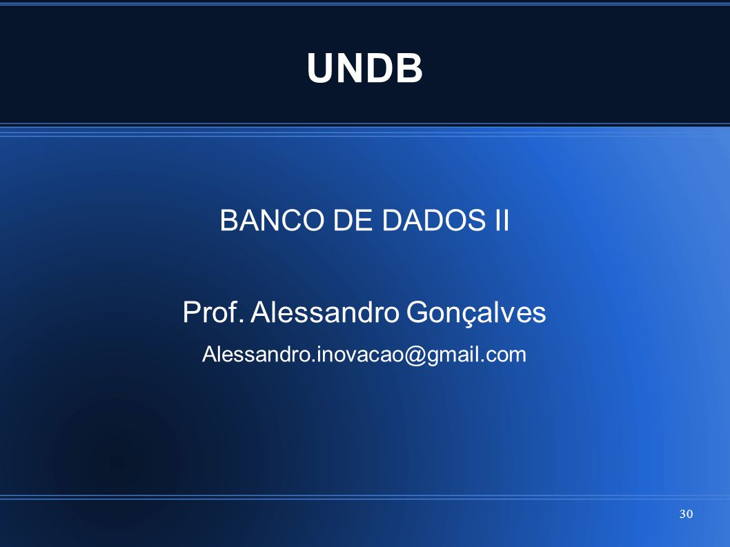 Prof. Alessandro Gonçalves