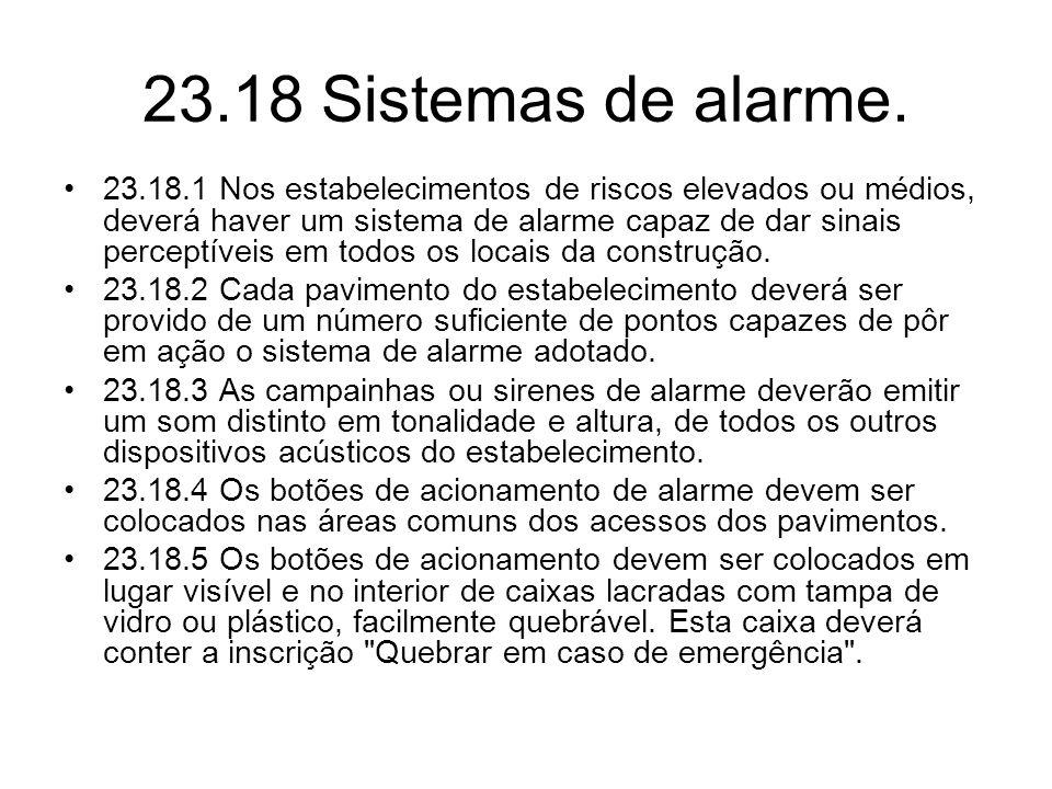 23.18 Sistemas de alarme.