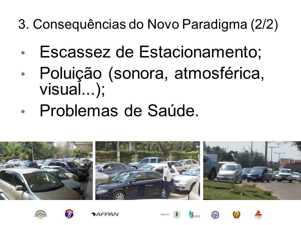 Escassez de Estacionamento; Poluição (sonora, atmosférica, visual...);
