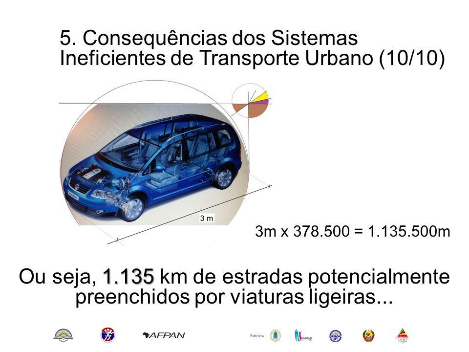 5. Consequências dos Sistemas Ineficientes de Transporte Urbano (10/10)
