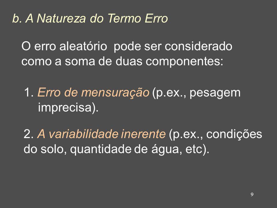 b. A Natureza do Termo Erro