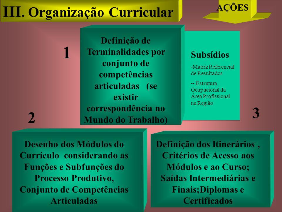 1 III. Organização Curricular 3 2 AÇÕES