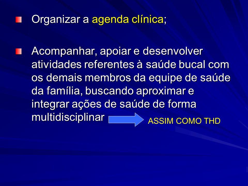 Organizar a agenda clínica;