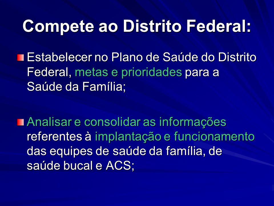 Compete ao Distrito Federal: