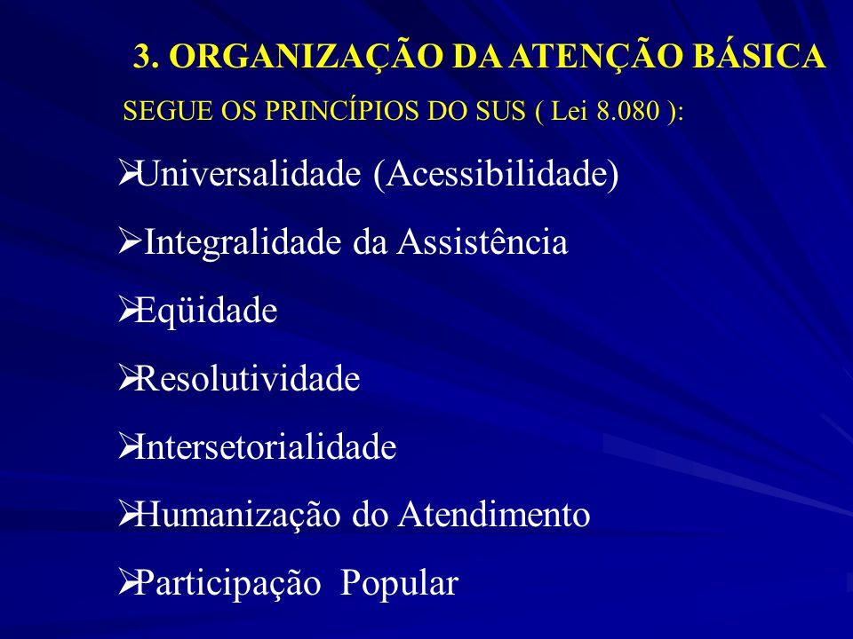 3. ORGANIZAÇÃO DA ATENÇÃO BÁSICA