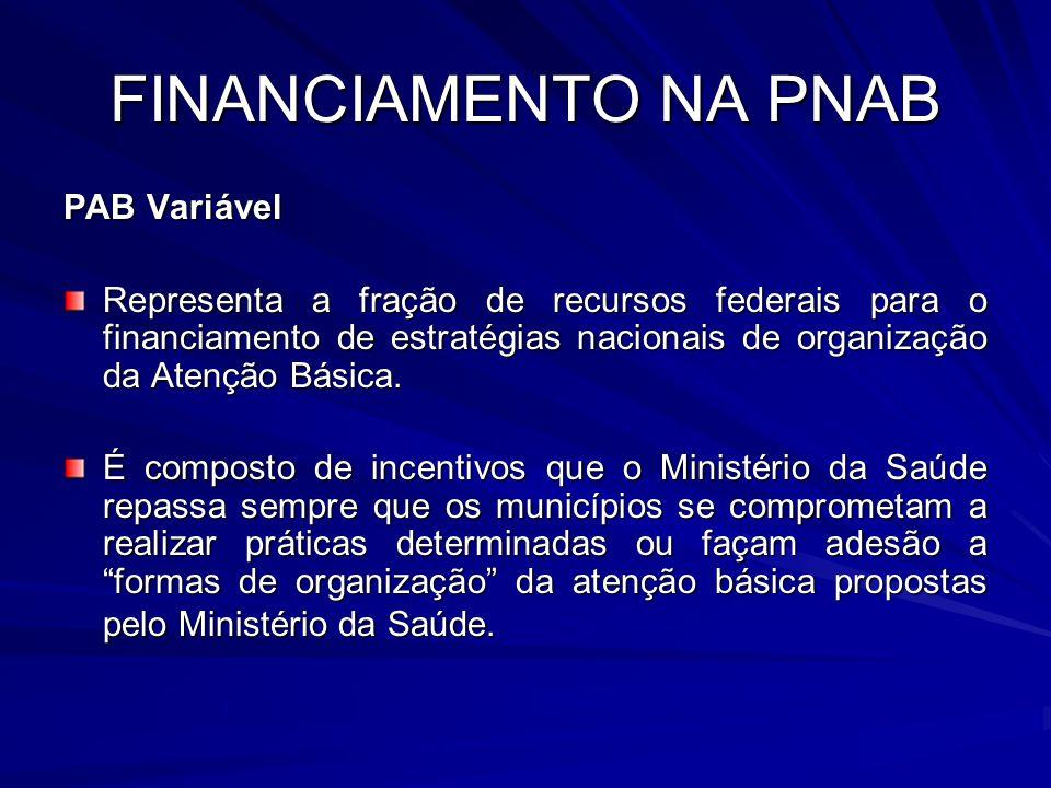 FINANCIAMENTO NA PNAB PAB Variável
