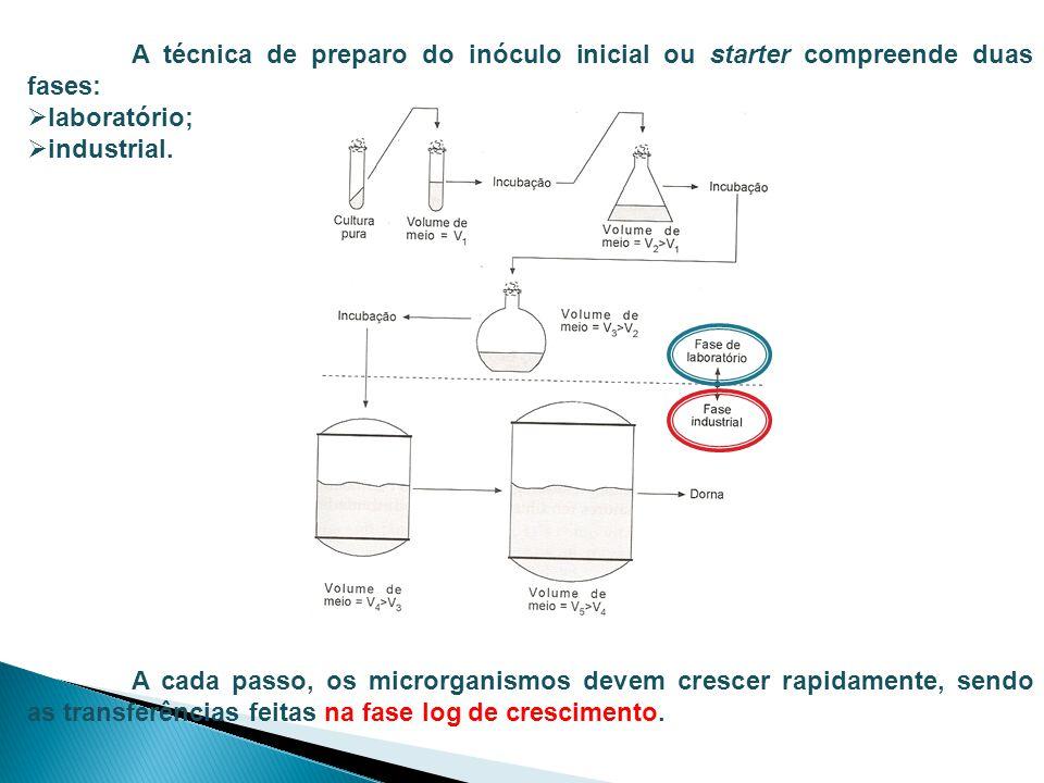 A técnica de preparo do inóculo inicial ou starter compreende duas fases: