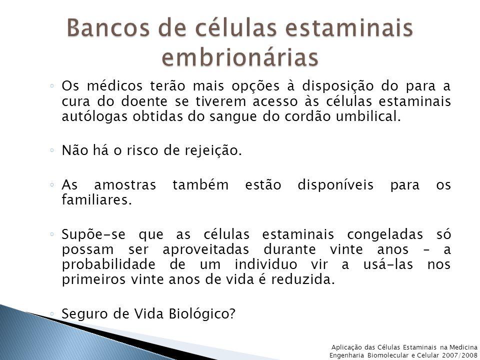 Bancos de células estaminais embrionárias