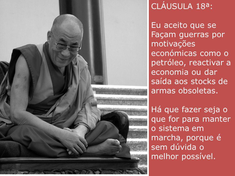 CLÁUSULA 18ª:
