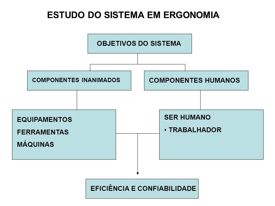 ESTUDO DO SISTEMA EM ERGONOMIA