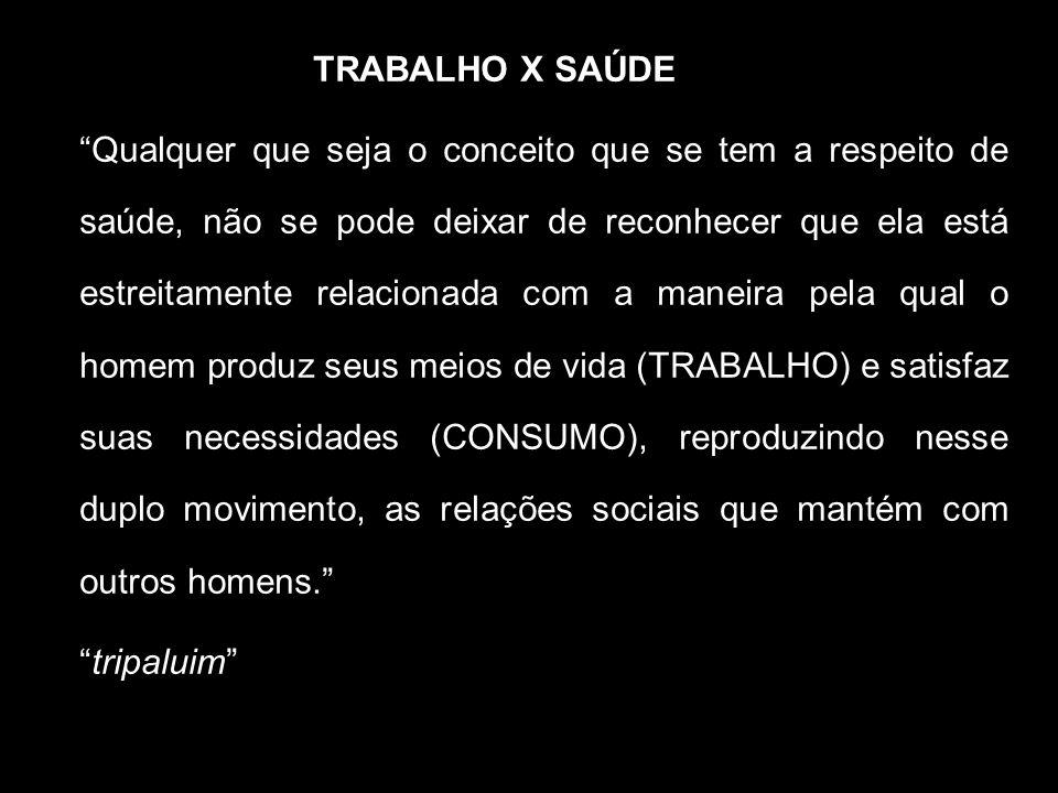 TRABALHO X SAÚDE