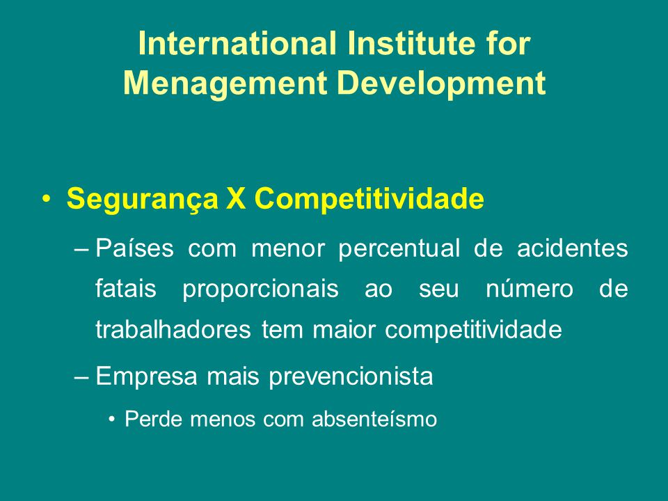 International Institute for Menagement Development