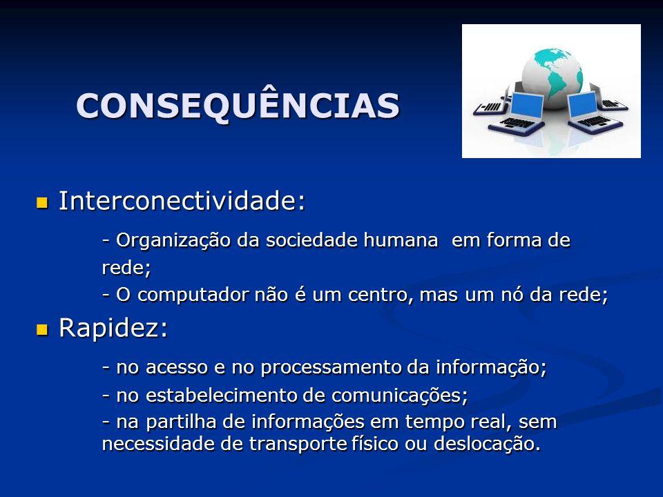 CONSEQUÊNCIAS Interconectividade: