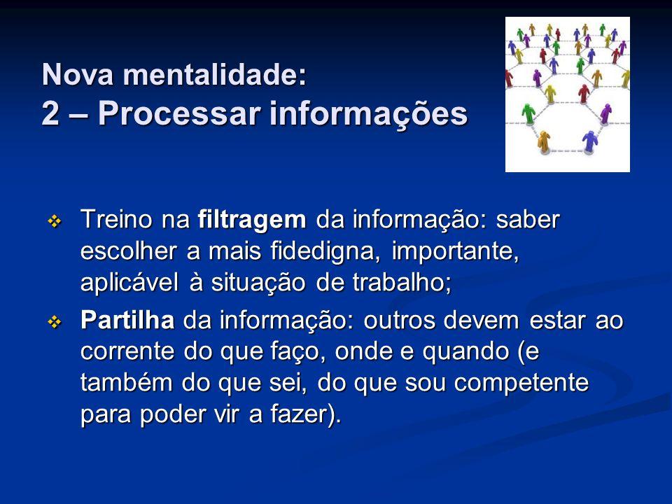 Nova mentalidade: 2 – Processar informações