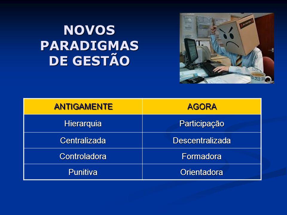 NOVOS PARADIGMAS DE GESTÃO