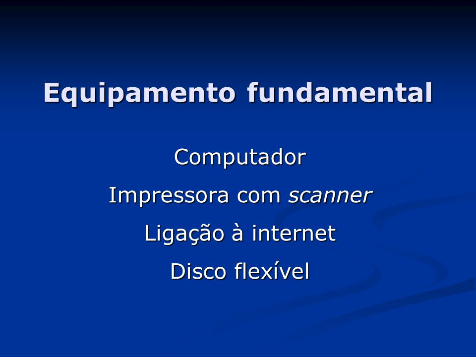 Equipamento fundamental