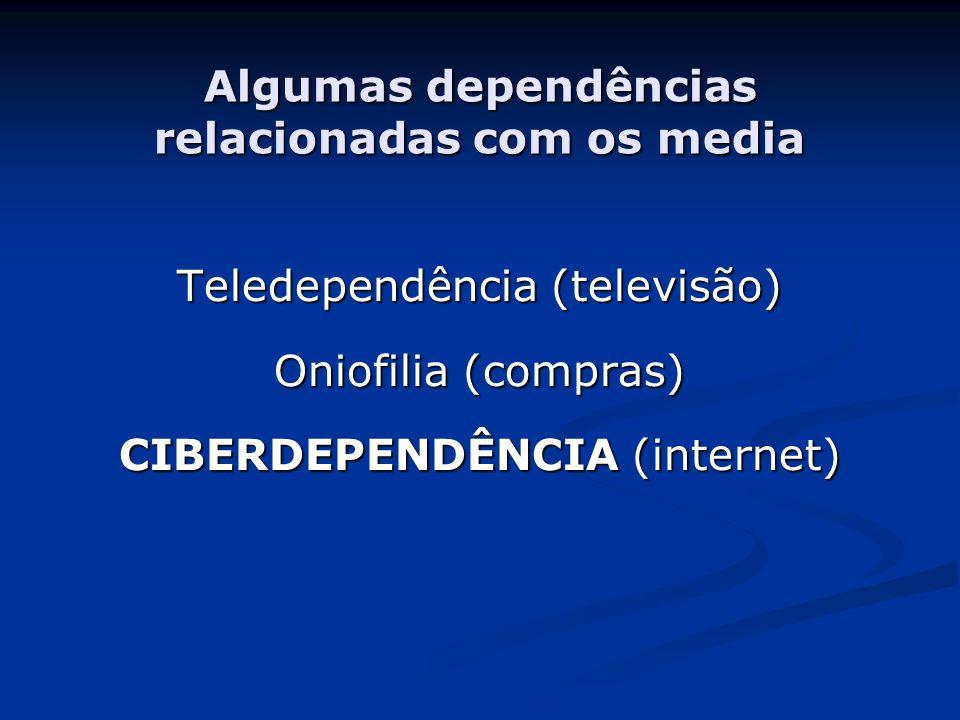 Algumas dependências relacionadas com os media