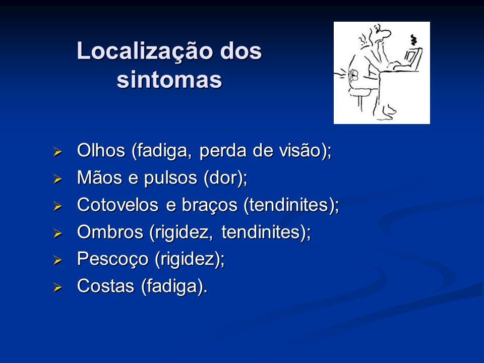 Localização dos sintomas