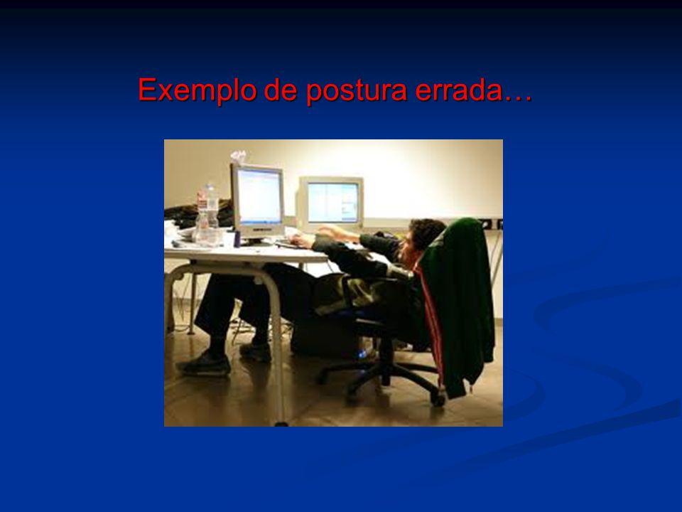 Exemplo de postura errada…