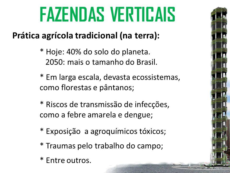 FAZENDAS VERTICAIS Prática agrícola tradicional (na terra):