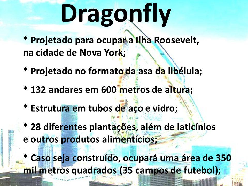 Dragonfly * Projetado para ocupar a Ilha Roosevelt,