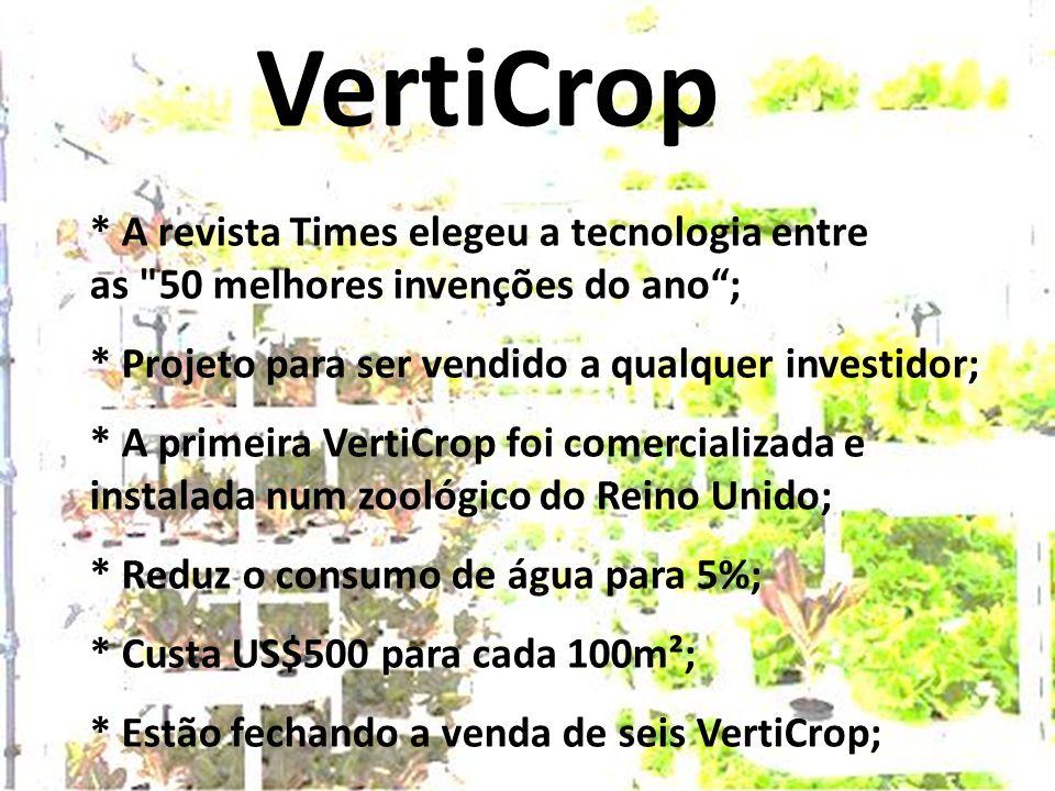VertiCrop * A revista Times elegeu a tecnologia entre