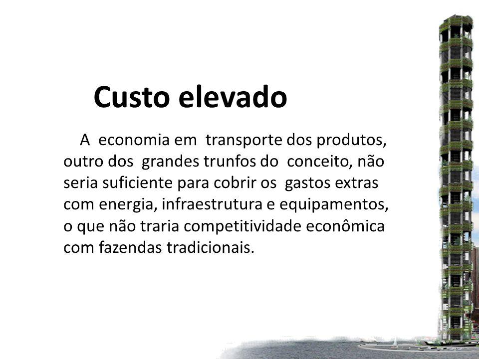 Custo elevado A economia em transporte dos produtos,