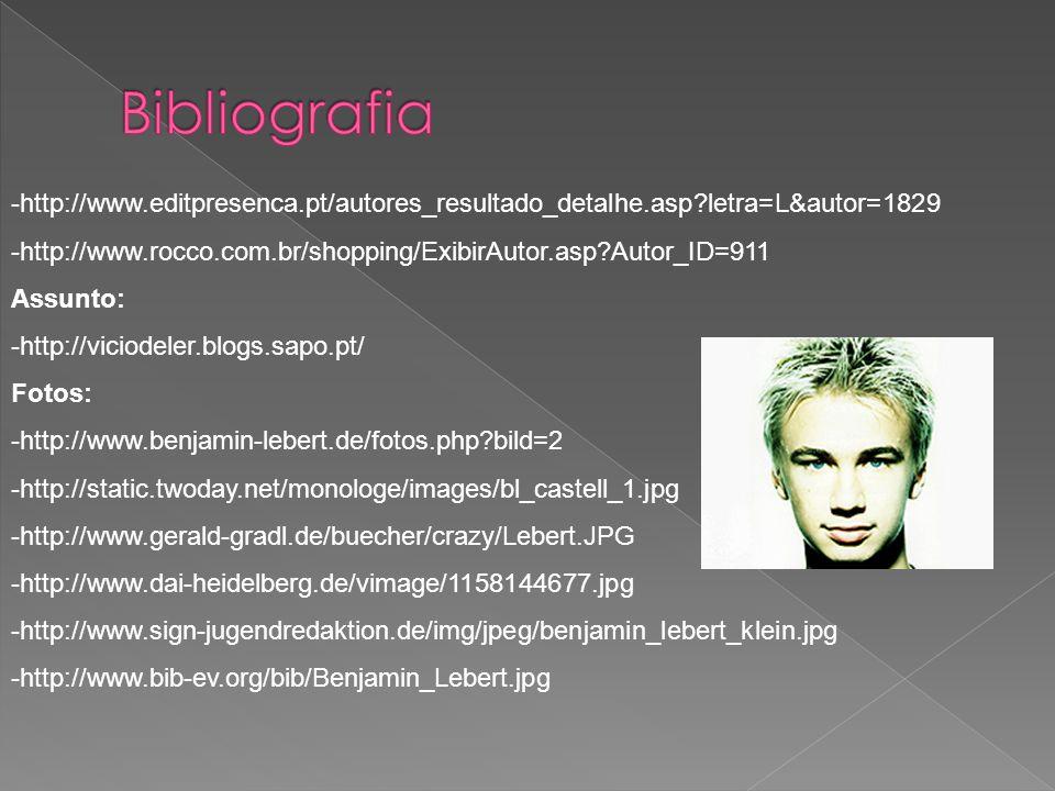 Bibliografia -http://www.editpresenca.pt/autores_resultado_detalhe.asp letra=L&autor=1829.