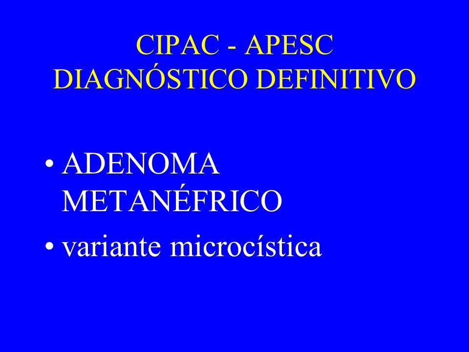CIPAC - APESC DIAGNÓSTICO DEFINITIVO