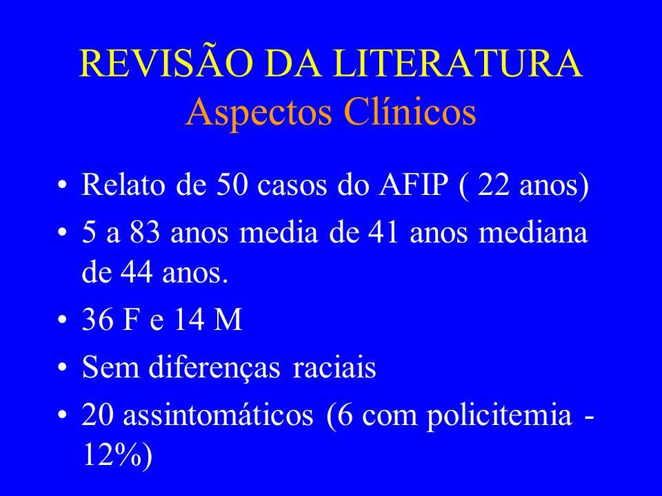 REVISÃO DA LITERATURA Aspectos Clínicos