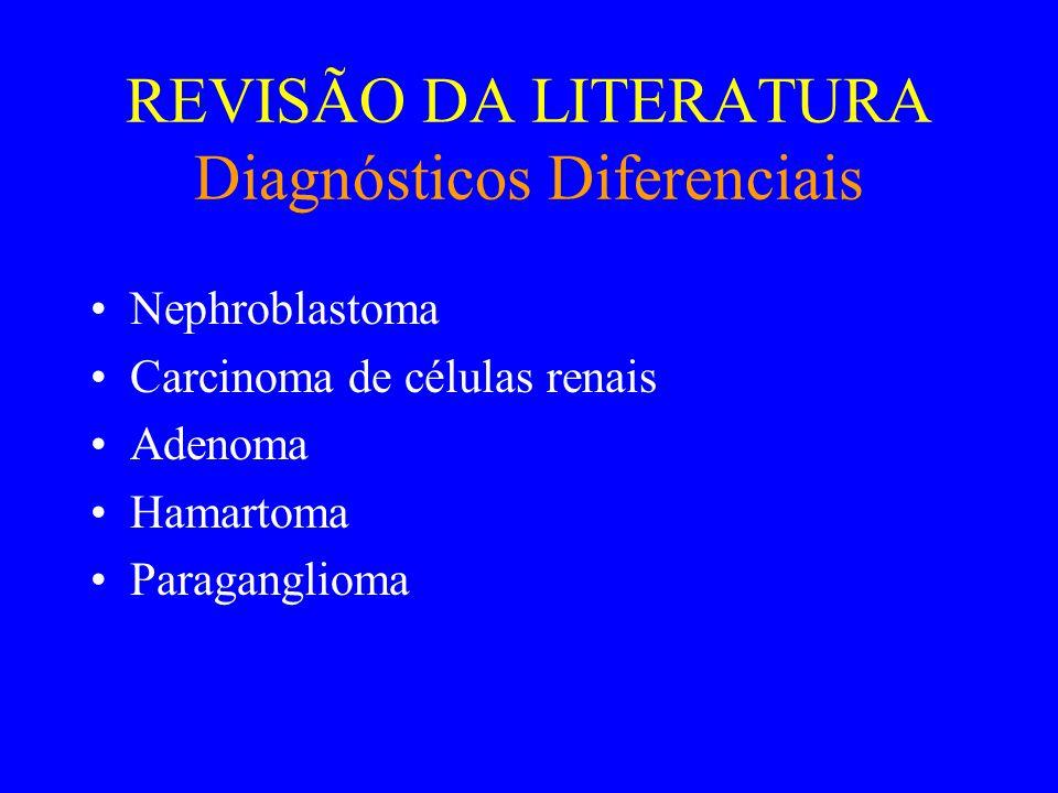 REVISÃO DA LITERATURA Diagnósticos Diferenciais